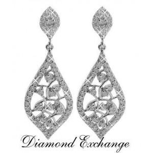 2.50 CT Women's Chandelier Style Diamond Earrings 14 K