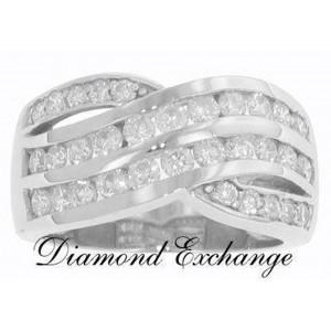 2.50 CT Round Cut Diamond Wedding Band Ring 14 K